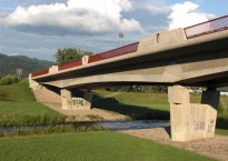 Flößer Bridge, north link road, Gengenbach