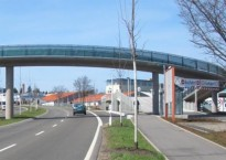 Foot and cycle bridge, Freudenstadt