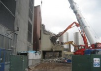 Demolition of a pellet silo
